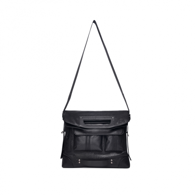 Men's Black Leather Crossbody Bags